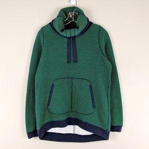 lululemon athletica | Green Striped Sweatshirt